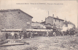 23508 Acieries De La Marine - Usines De St-Chamond - Transport Gros Canon -ed Conin -bulldozer Artillerie Correspondance - Matériel