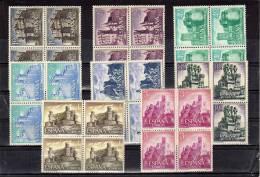 ESPAÑA-1738/45  Castillos De España 1966 En Bloque De Cuatro - 1931-Hoy: 2ª República - ... Juan Carlos I