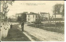 CPA  PORTETS, Avenue Du Port Et Hôtel De La Marine  9507 - Francia