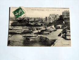 Carte Postale Ancienne : BIARRITZ : Le Port Des Pecheurs En 1913 - Biarritz
