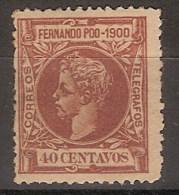 Fernando Poo 089 * Alfonso XIII. 1900. Charnela - Fernando Poo