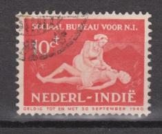 Nederlands Indie Netherlands Indies Dutch Indies 270 Used ; Sociaal Bureau 1939 - Nederlands-Indië