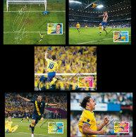 Zweden  2014  Zlatan Ibrahimovic Voetbal Soccer Fussbal   MAXICARDS  COMPLETE SET   Postfris/mnh - Neufs