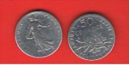 FRANCIA - FRANCE =  50 Centimes 1898  KM854  PLATA - Francia