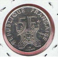 FRANCIA - FRANCE =  5 Franc  1989 SC    KM968  Torre EIFFEL - G. 50 Centesimi