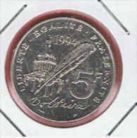 FRANCIA - FRANCE =  5 Franc  1994 SC  KM1063 - J. 5 Francos