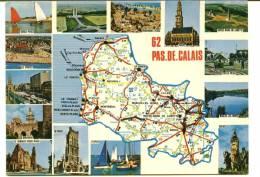 CPSM DEPARTEMENT DU PAS DE CALAIS 62 Carte Michelin N° 989 CIM - Cartes Géographiques