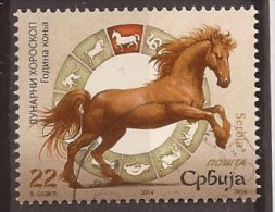 2014  SERBIA SRBIJA MOND HOROSKOP JAHR DES PFERDES CAVALLI HORSES USED - Serbia