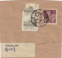 CHINE CHINA YVERT 1063 +1385X2 SUR FRAGMENT