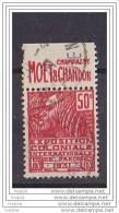 BANDE PUB  50 C TYPE FACCHI  OBLITERE  MOET  DECROISSANT - Advertising