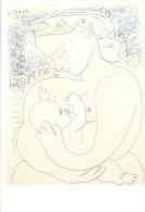 P. PICASSO: Maternité  [ Nu Femme Allaitant Bébé Sein ] AG099 - Autres Illustrateurs