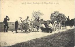 MILITARIA - Camp De Chalons - Batteries à Cheval - Mise En Batterie Sur Route - Equipment