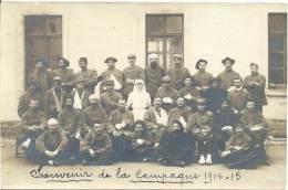 MILITARIA - Carte Photo - Souvenir De La Campagne 1914 - 15 - Blessés - Infirmière - Regimente
