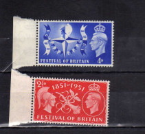 GREAT BRITAIN - GRAN BRETAGNA 1951 KING GEORGE VI FESTIVAL MNH - 1902-1951 (Re)