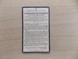Doodsprentje Florence Legrand Komen 25/12/1858 - 24/3/1939 ( D.v. Pierre En Apolline Lemahieu ) - Religione & Esoterismo