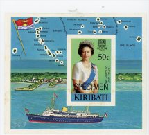 Kiribati 1982-Bateaux, Elisabeth II-YT B5***MNH SPECIMEN - Bateaux