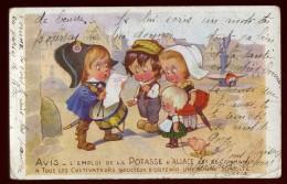 Cpa Pub Potasse D´  Alsace  LAM3 - Publicité
