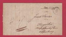 ALLEMAGNE  //  LETTRE DE KENZINGEN  //  POUR LE OFFENBURG  //  29 AOUT 1850 - Allemagne