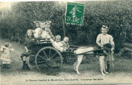 45 - Gien : Hameau De Montbricon - L'Equipage Des Petits -  Attelage De Chiens - Carte RARE ! - Gien
