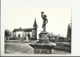 CPSM SAINT SULPICE DES CHAMPS , PLACE DE L' EGLISE - Autres Communes