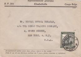 1946, LETTRE CONGO BELGE,  ELISABETHVILLE Pour USA /5485 - Congo Belge