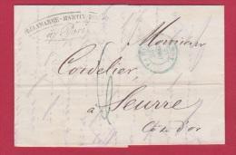LETTRE   DE PARIS   //  POUR  SEURRE     //  23 DEC 1845  // - Marcophilie (Lettres)