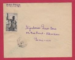 A E F  //  ENV POUR PARIS  //  13 OCT 1948 - Covers & Documents