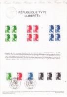 Document Philatélique Officiel « République Type LIBERTÉ », Gandon, 3 Valeurs, 1982 - 1982-90 Liberté De Gandon