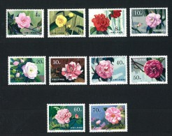 CHINA - CINA - CHINE - SERIE FLORA - 10 VALORI NUOVI ** MNH - Y 2259/2268 - ANNO 1979 - ROSE - Neufs