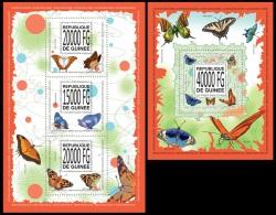 gu13519ab Guinea 2013 Butterflies 2 s/s
