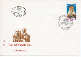 YUGOSLAVIA 1985 St. Methodius Anniversary  FDC.  Michel 2102 - FDC