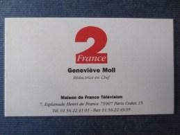 Carte De Visite De GENEVIEVE MOLL - FRANCE 2 - Visiting Cards