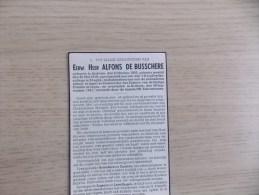 Doodsprentje Alfons De Busschere Ardooie 8/10/1892 - 26/9/1941 (Priester ) - Religion & Esotericism