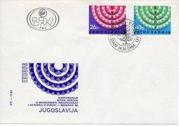 YUGOSLAVIA 1984 War Veterans' Conference FDC.  Michel 2071-72 - FDC