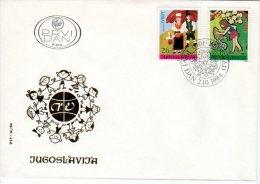 YUGOSLAVIA 1984 Joy Of Europe Children's Meeting FDC.  Michel 2066-67 - FDC