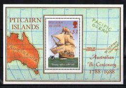 Pitcairn Islands - 1988 HMS Bounty Block MNH__(TH-2155) - Briefmarken