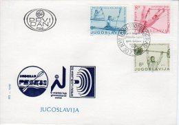 YUGOSLAVIA 1982 Sports Championships FDC.  Michel 1935-37 - FDC