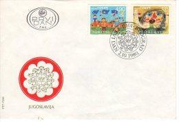 YUGOSLAVIA 1980 Joy Of Europe Children's Meeting FDC.  Michel  1854-55 - FDC