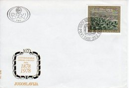 YUGOSLAVIA 1978 Centenary Of Serbo-Turkish War FDC  Michel  1720 - FDC