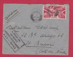 A.E.F //  ENV DE BRAZZAVILLE   // POUR  ST BRIEUC    // 14 JUILLET 1946 - Covers & Documents