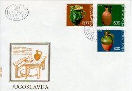 YUGOSLAVIA 1976 Ceramics On 2  FDCs  Michel  1649-54 - FDC