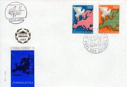YUGOSLAVIA 1975 European Security Conference  FDC.  Michel  1585-86 - FDC