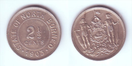 British North Borneo 2 1/2  Cents 1903 H - Malaysie