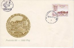 YUGOSLAVIA 1969 Ptuj 1900th Anniversary FDC.  Michel  1328 - FDC