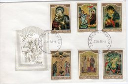 YUGOSLAVIA 1968 Medieval Ikon Paintings  FDC.  Michel 1268-73 - FDC