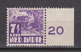 Nederlands Indie Netherlands Indies Dutch Indies 252 With Watermark + Frame MNH ; Karbouw - Indes Néerlandaises