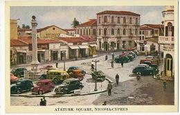 Ataturk Square Nicosia Cyprus Edit Pandelides P. Used 1957 Old Cars To Sweden Bank  Pub Coca Cola - Cyprus