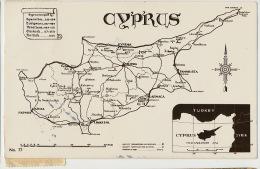 Cyprus Map Turkey Edit Zartarian P. Used 1955 Limassol   To Sweden - Cyprus