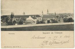 Tirlemont Thienen  Souvenir Panorama Edit Nels Serie 37 No 2 Timbrée 1904 - Tienen