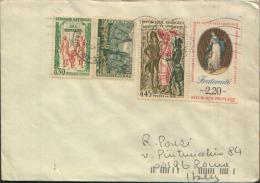 LETTRE FILATELIQUE PARIS X ROMA - 1961-....